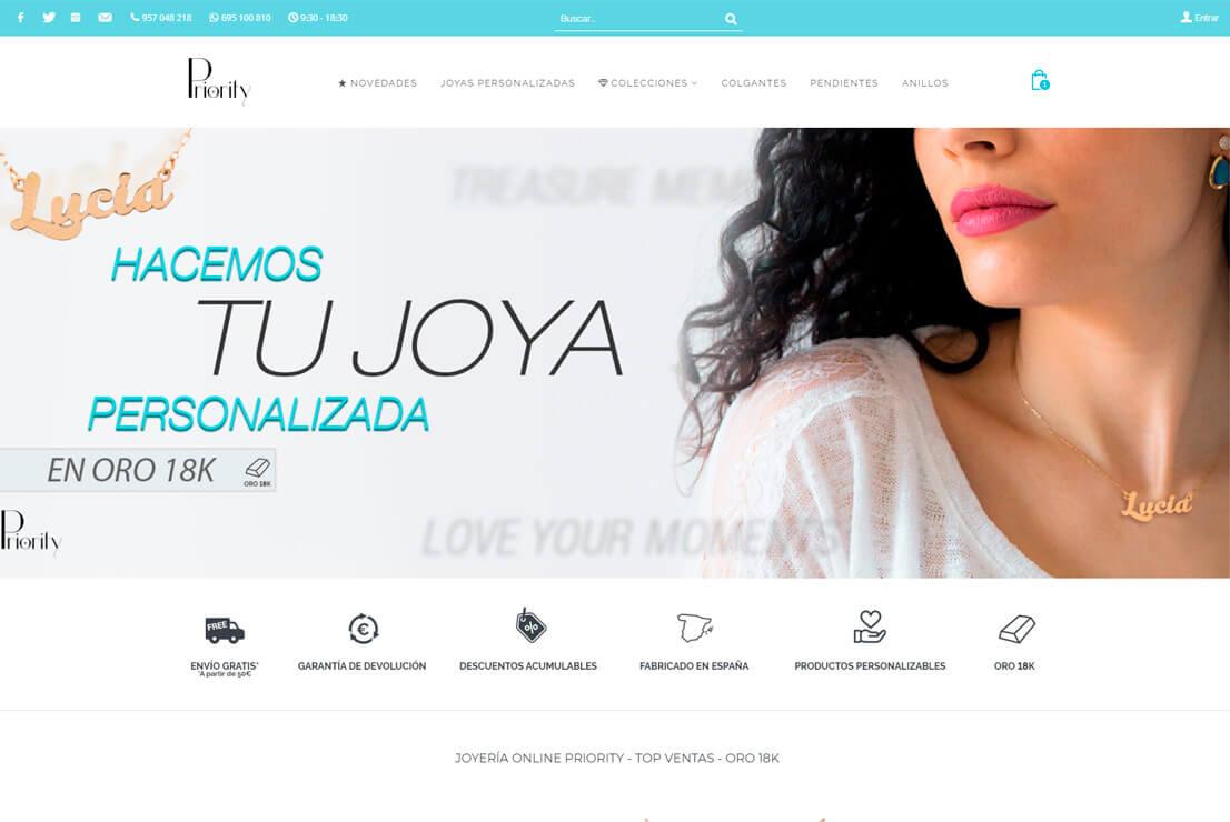 Joyería Online Priority